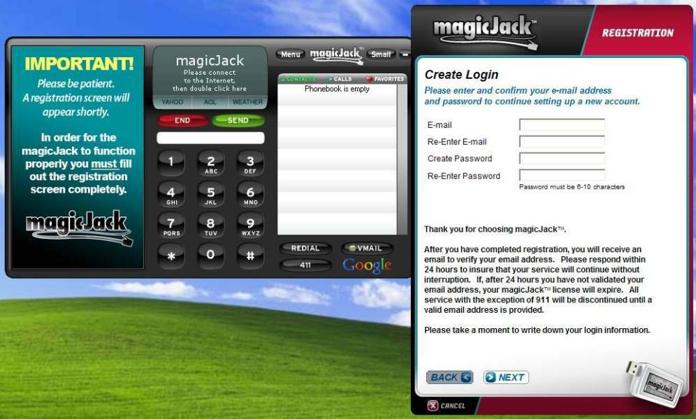 Magic Jack photos of Magic Jack sign up process (2 of 5)