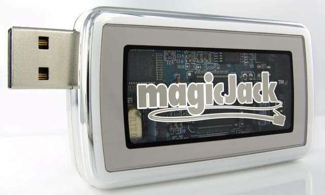 Close up of Magic Jack USB VoIP Phone Jack